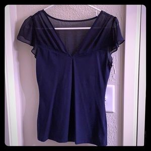 Express Blue Dress Top